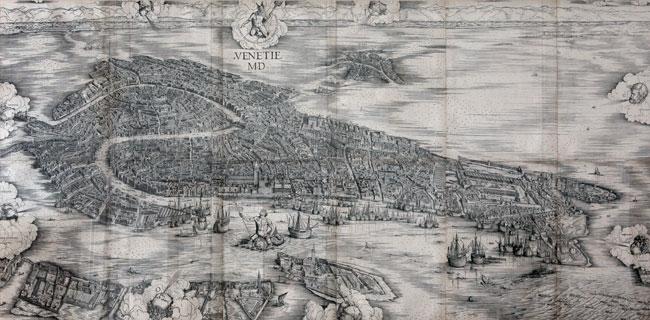 "Jacopo de' Barbari, ""Venetie MD"", 1500, xilografia"