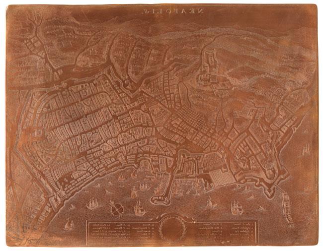"Ambito napoletano, ""Neapolis"", 1775-1799, matrice in rame, 36,4 x 27,8 cm"